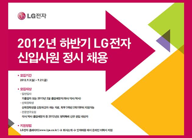 2012 LG전자 하반기 대졸 공채