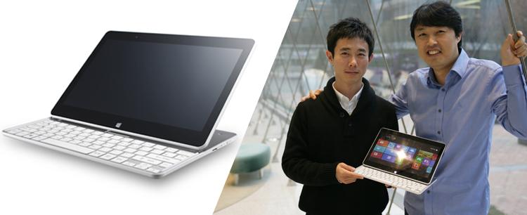 슬라이드형 PC, 탭북(H160) 디자이너 인터뷰