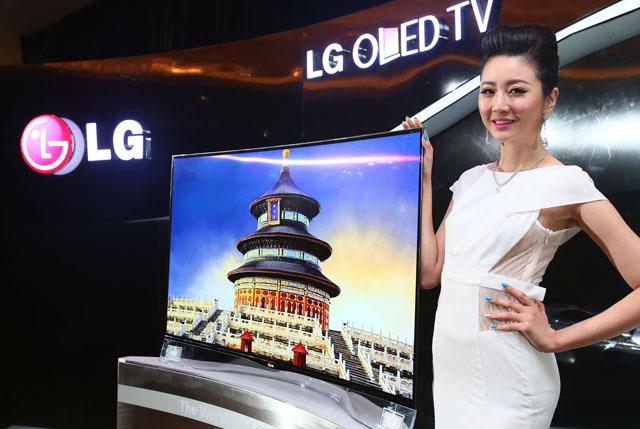 LG 곡면 올레드 TV 중국 출시