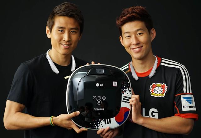 LG '로보킹', 구자철/손흥민 선수를 응원합니다