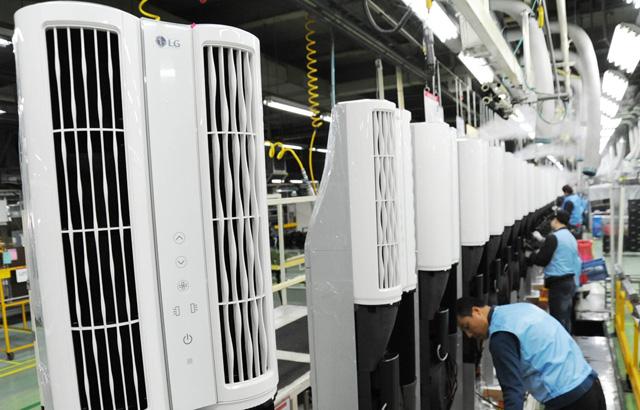 LG전자, '휘센 듀얼 에어컨' 생산 개시