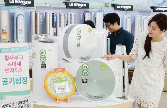 LG 프리미엄 공기청정기 판매량 '더블'