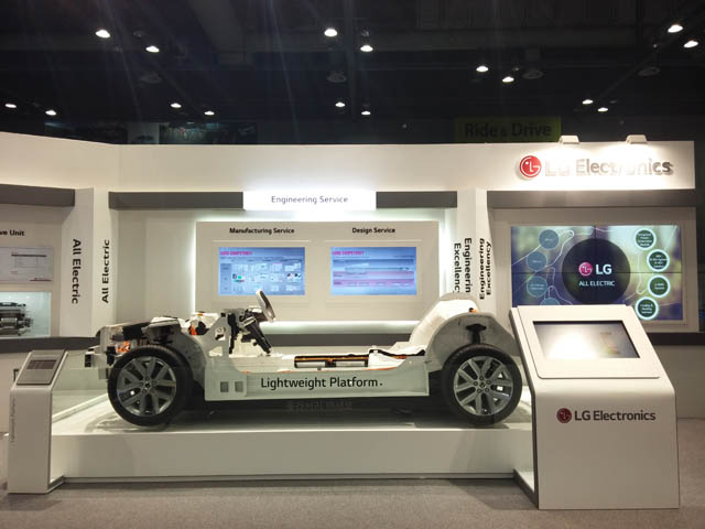 LG전자, 'EVS'서 차량용 핵심부품 R&D 역량 선보여