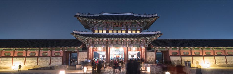 우리 문화 유산을 올레드TV로 재현한 경복궁의 아름다운 밤
