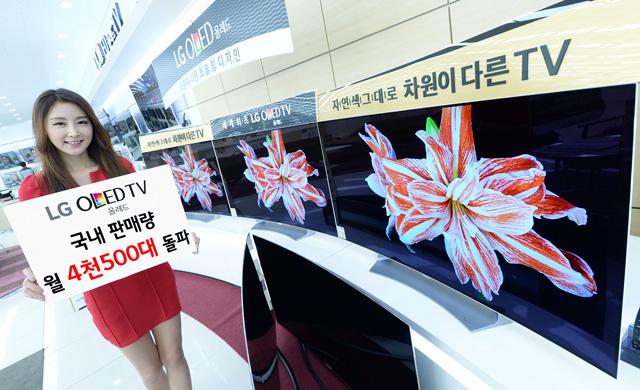 LG 올레드 TV, 국내 판매량 월 4천500대 돌파