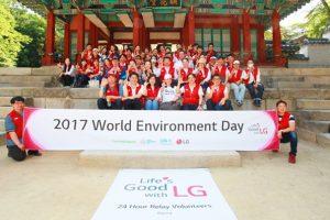 해가 지지 않는 LG의 24시간 릴레이 봉사 현장