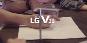 LG V30 월페이퍼 메이킹 영상 공개