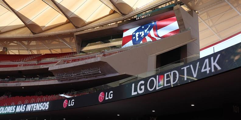LG LED 사이니지, 'AT 마드리드' 새로운 홈구장 비춘다