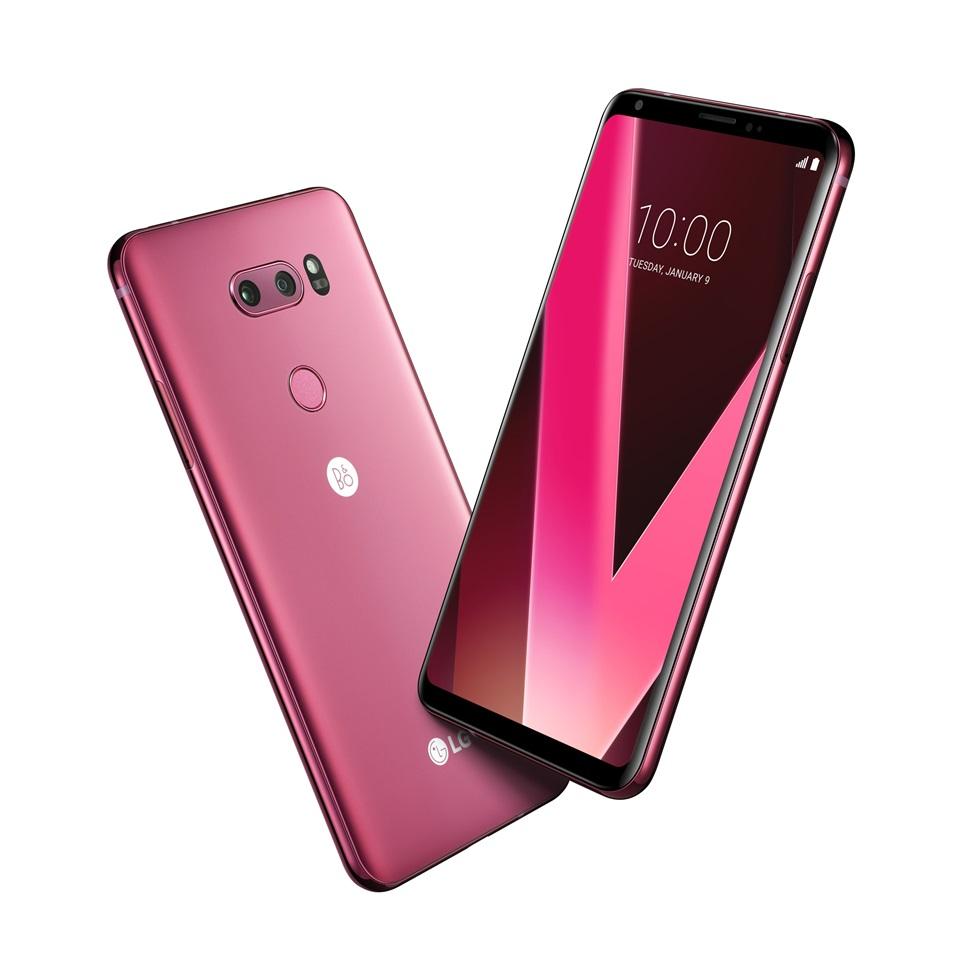 LG V30 '라즈베리 로즈' CES 2018서 공개