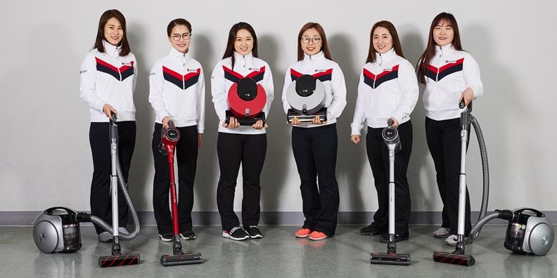 여자 컬링팀 공식 후원