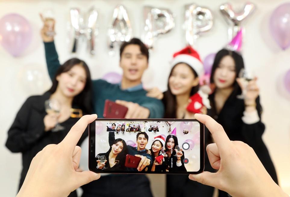 LG V40 <sup>ThinQ</sup>로 연말 파티 '핵인싸' 인증샷 찍는 법