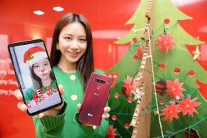 LG V40 <sup>ThinQ</sup> 『크리스마스 AR 스티커팩』공개