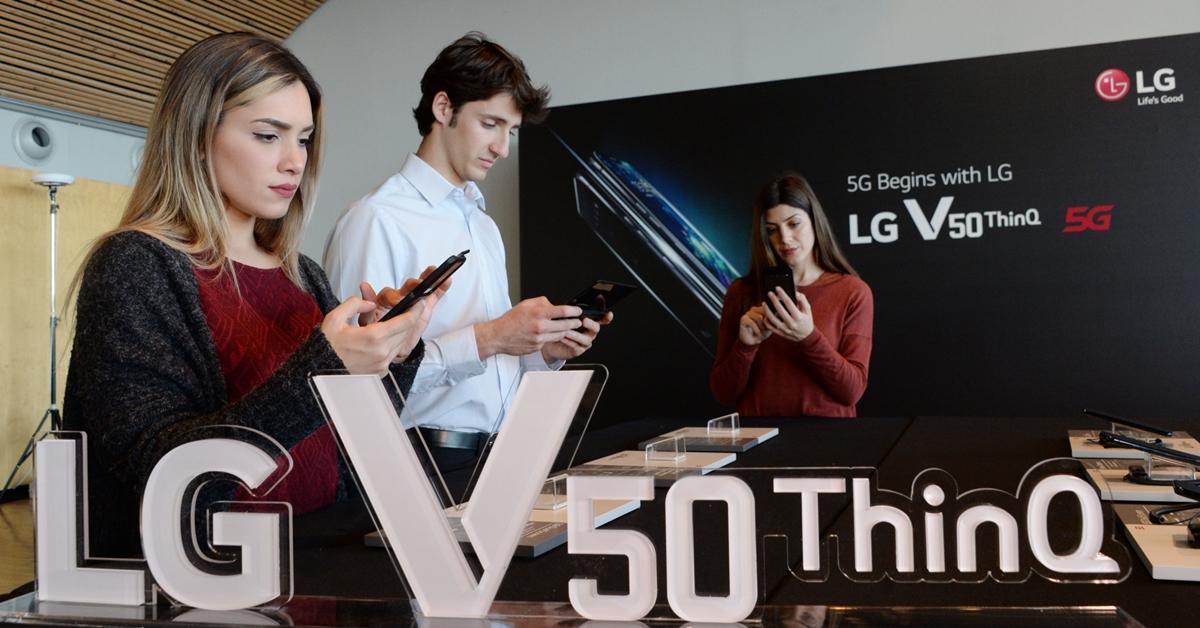 'MWC19' 시작! LG V50 <sup>ThinQ</sup> - G8 <sup>ThinQ</sup> 동반 출격