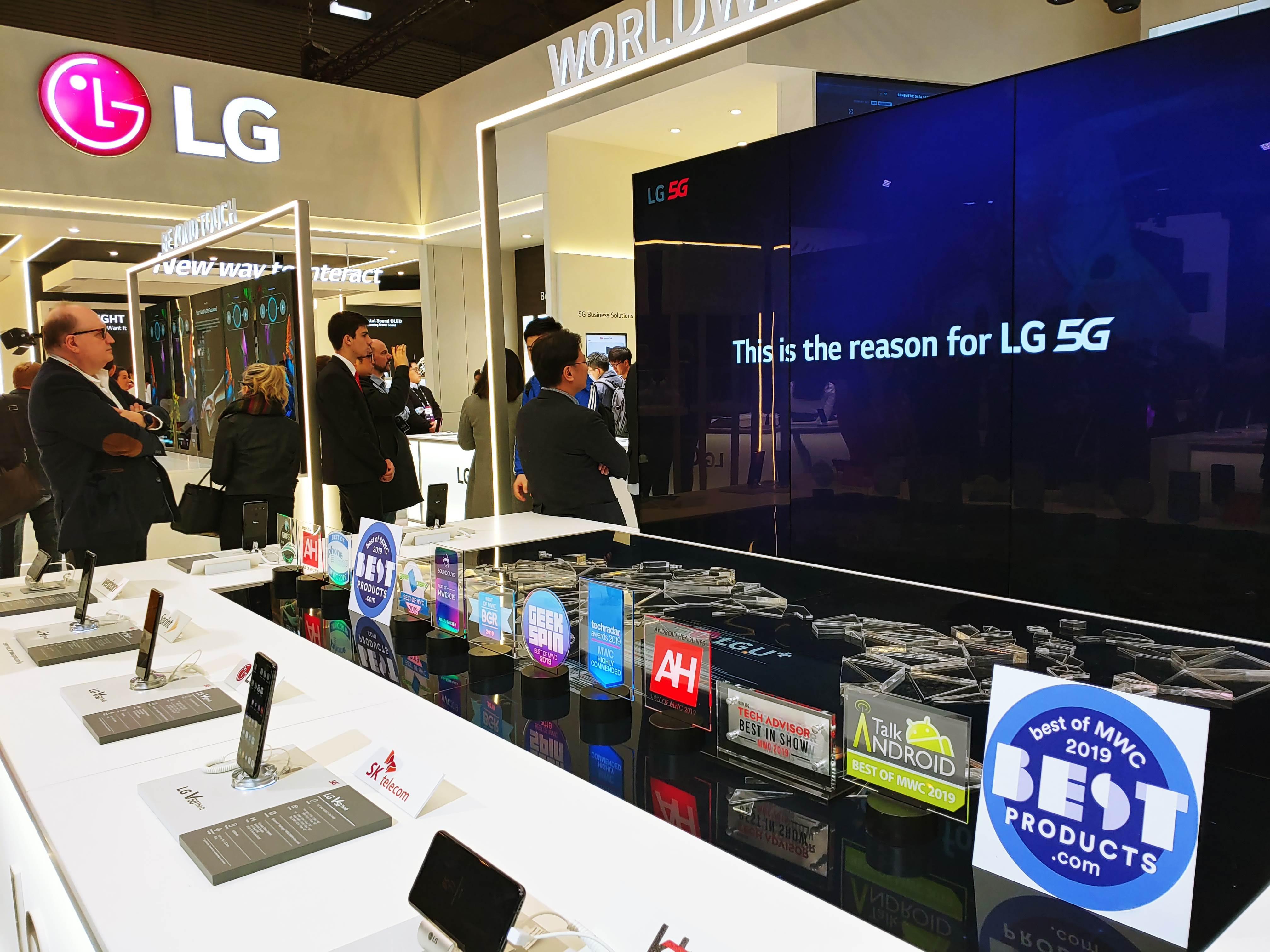LG V50 <sup>ThinQ</sup>·LG G8 <sup>ThinQ</sup>, MWC 2019서 '好評'