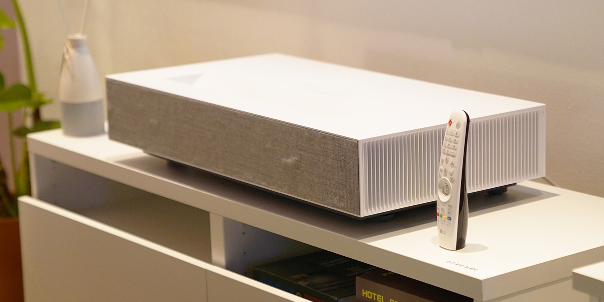 'LG 시네빔 레이저 4K', 반 뼘의 공간만 있으면 홈시네마 완성!