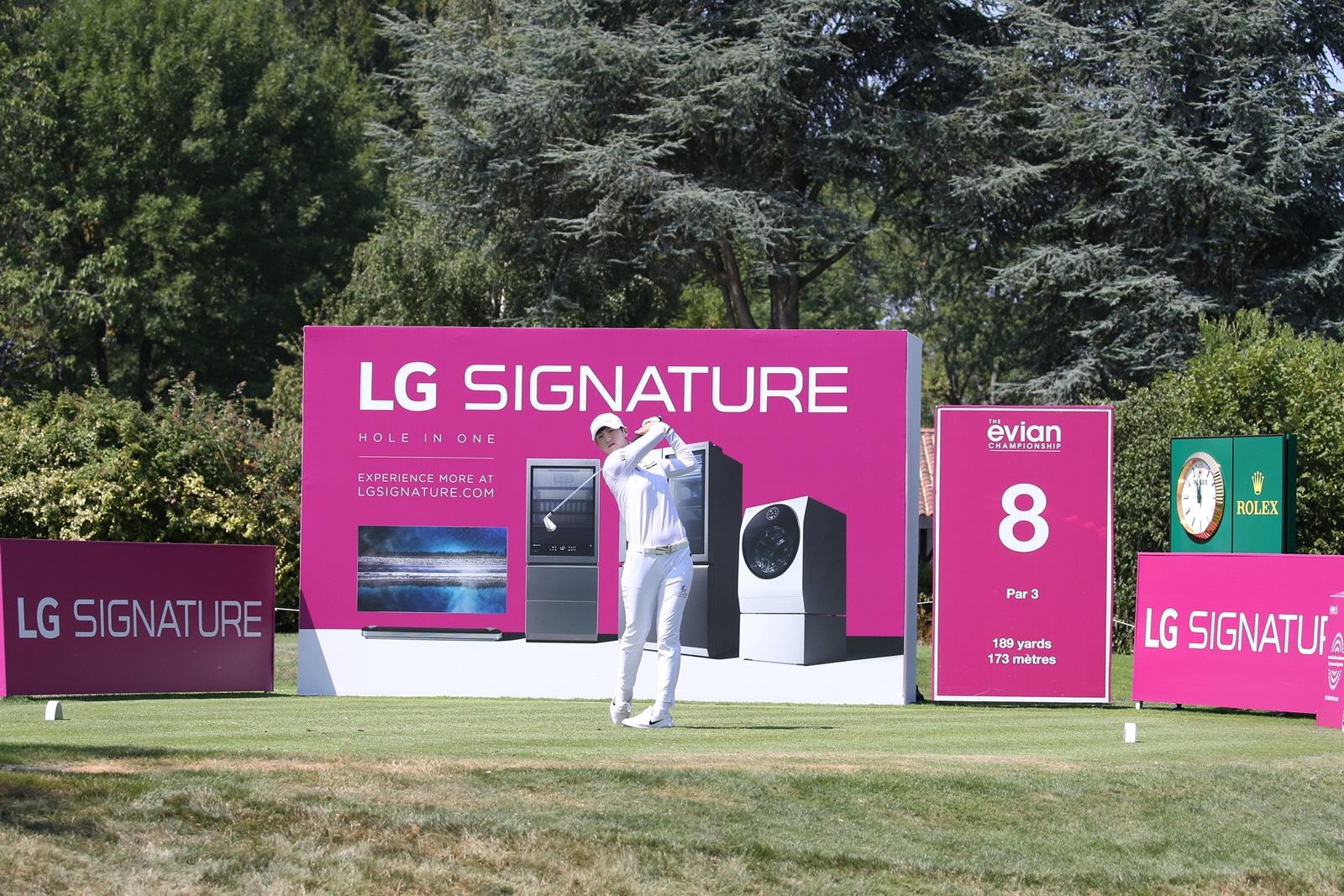 LPGA 메이저 골프대회서 超프리미엄 'LG 시그니처' 알린다
