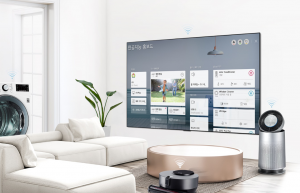 '좋은 아침' 하면 조명과 가전제품을 켜주는 LG 인공지능 TV