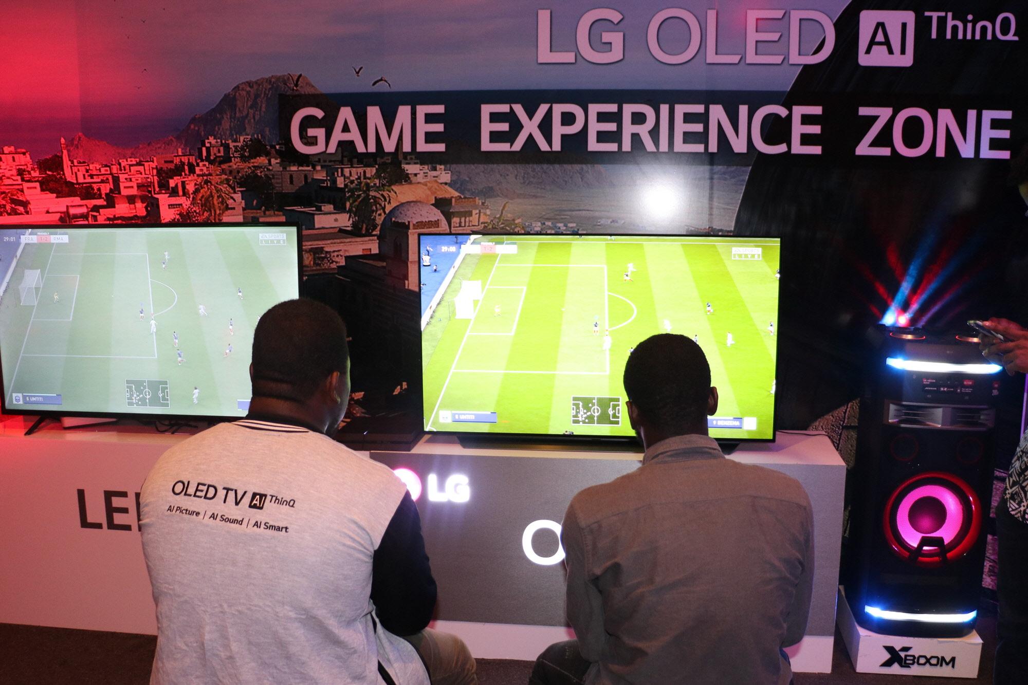 나이지리아서 e-스포츠 대회 개최 'LG 올레드 TV' 우수성 알린다