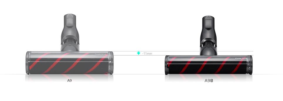 LG 코드제로 A9보다 11mm 낮아진 A9S의 슬림한 흡입구
