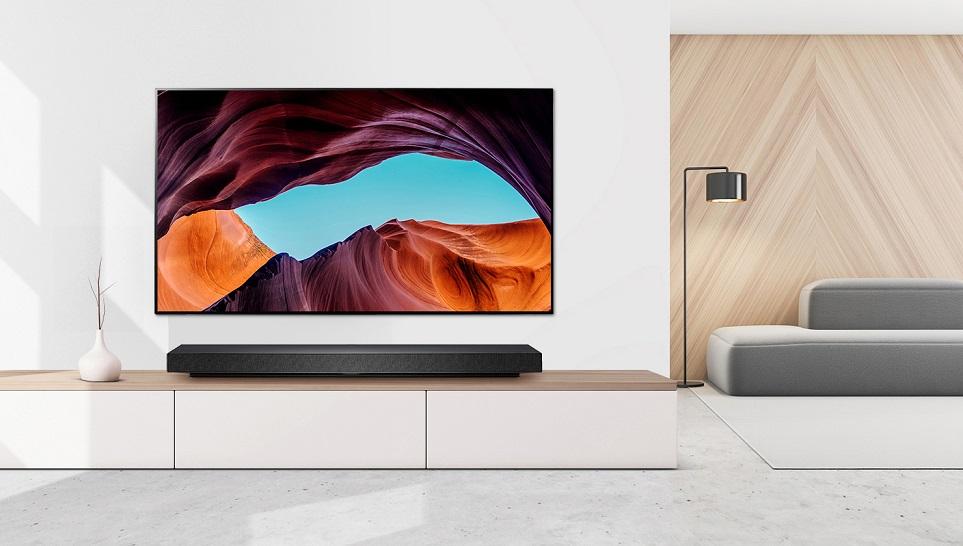 LG 올레드 TV를 설치한 거실 인테리어