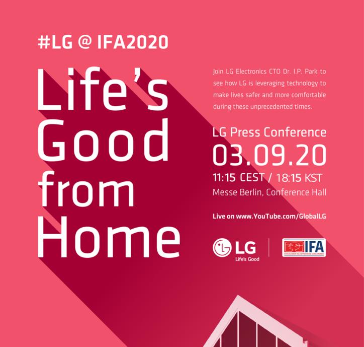 LG전자 IFA2020 초청장 이미지