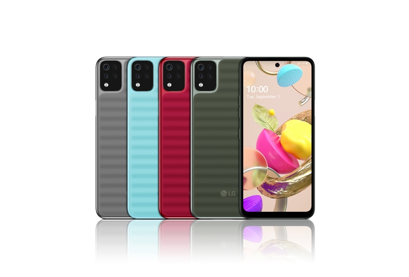 LG전자가 대화면, 후면 쿼드 카메라, 대용량 배터리 등 최신 트렌드를 반영한 실속형 스마트폰 3종(K62, K52, K42)을 선보인다. LG K42 제품 사진