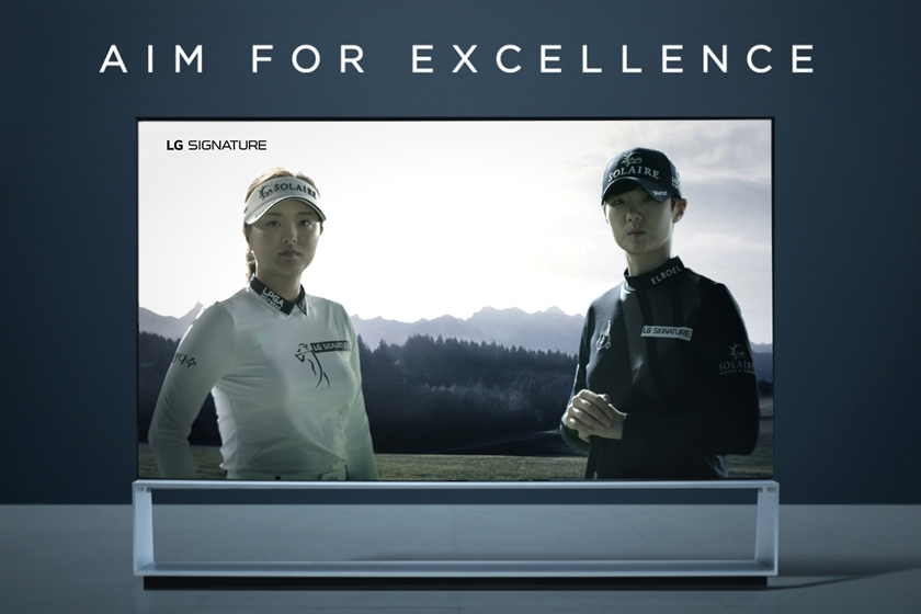 LG전자가 고진영(왼쪽), 박성현 선수와 함께 제작한 '마스터 스토리' 디지털 캠페인 영상의 캡처 이미지