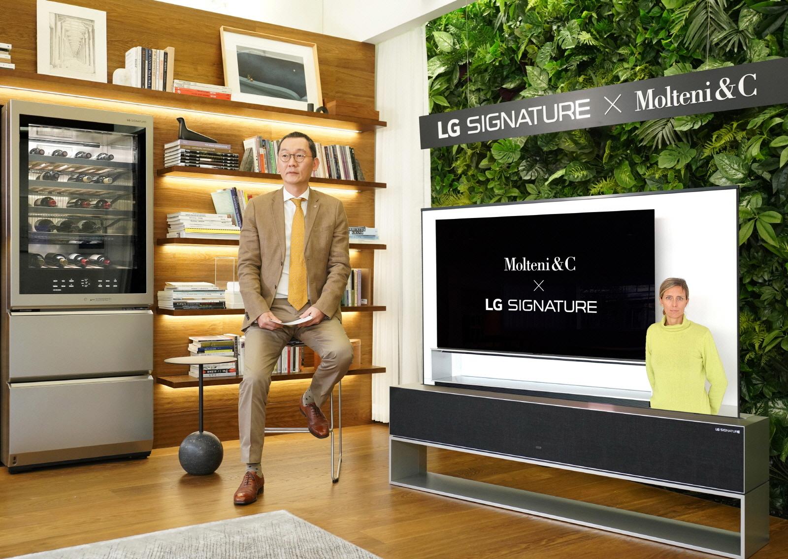 LG 시그니처, 이탈리아 명품 가구 브랜드와 전방위 협력