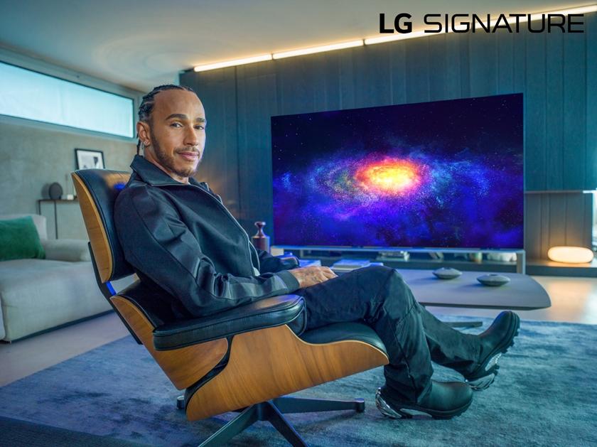 LG 시그니처의 새 브랜드 앰버서더인 세계적인 F1 드라이버 루이스 해밀턴(Lewis Hamilton)