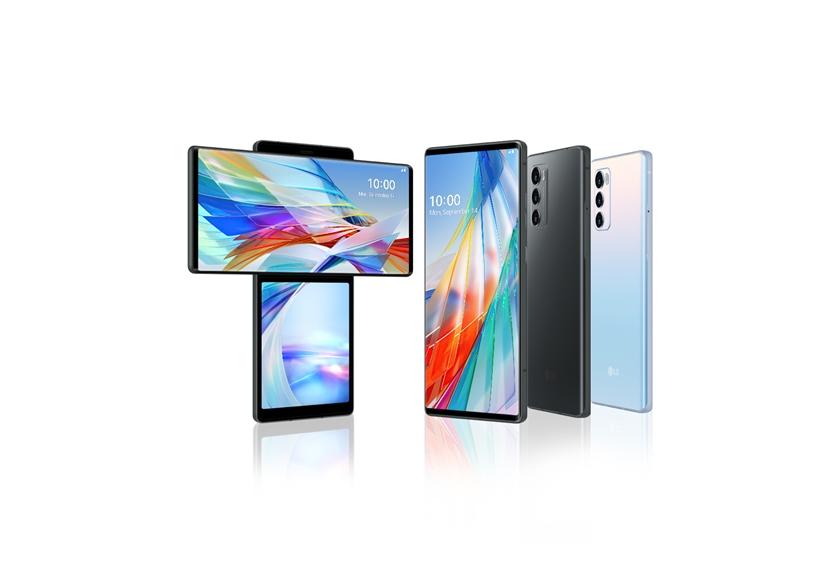 LG전자가 전략 스마트폰 'LG 윙(LG WING)'을 한국(6일)과 미국(15일) 시장에 출시한다. 모델이 LG 윙을 소개하고 있다.