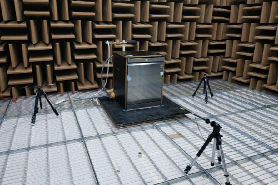 LG 식기세척기 소음 측정 시험 모습