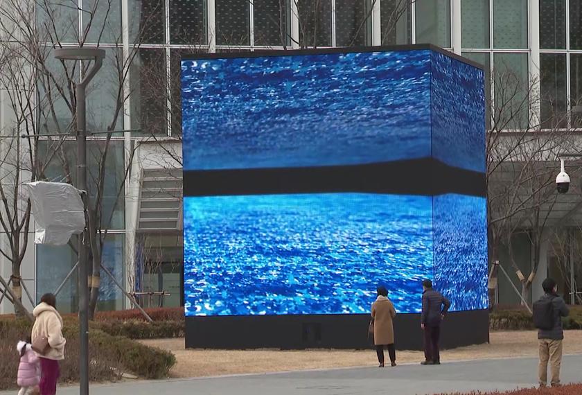 LG LED 사이니지 – 롯데타워 미디어 전시회 LED 사이니지 영상