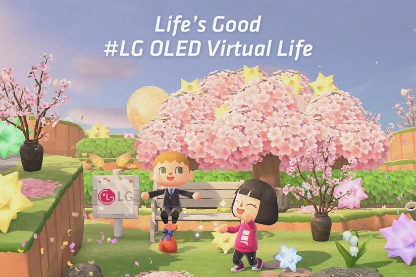LG전자가 인기 게임 '모여봐요 동물의 숲'에 LG 올레드 TV를 알리는 가상 공간인 '올레드 섬'을 마련했다. 게이머들은 LG전자가 게임 공간에 마련해 놓은 올레드 섬에 방문해서 스포츠, 영화, 게이밍, 라이프스타일 디자인 등 다양한 컨셉에 맞게 꾸며진 LG 올레드 TV를 보고 게임 내 마련된 다양한 이벤트도 즐길 수 있다. 사진은 동물의 숲 게임에 마련된 올레드 섬의 모습.