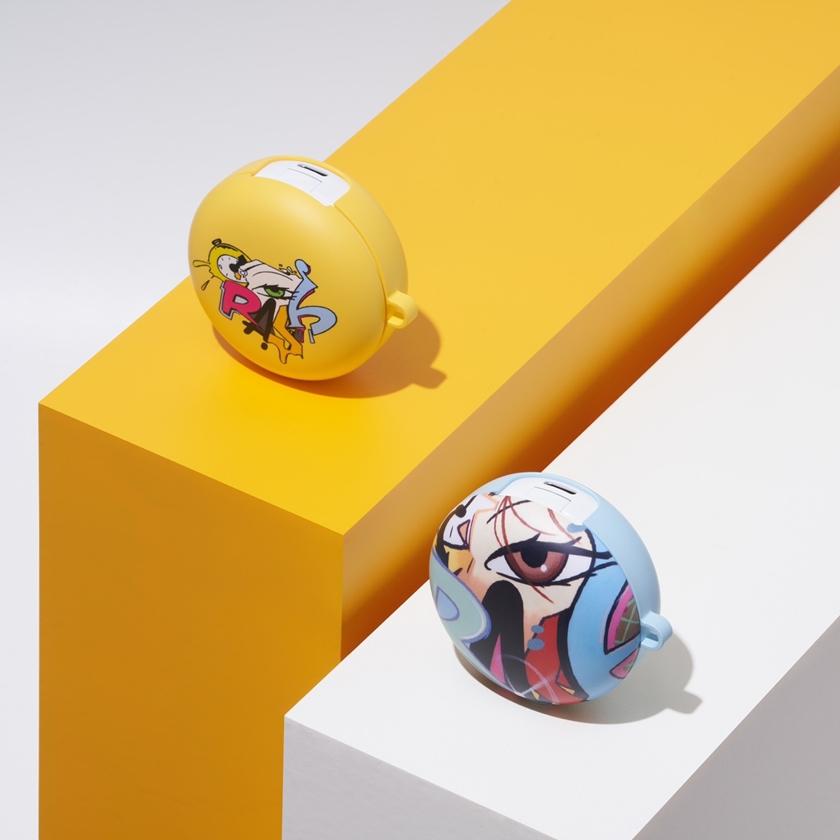 LG전자가 세계적인 스트리트 아티스트 '오베이 자이언트(Obey Giant)', '크래쉬(Crash)' 등과 함께 만든 'LG 톤프리 케이스' 4종을 선보였다. 제품 컨셉사진.