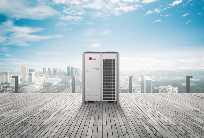 업계 최초로  국제표준 기반 인공지능 품질인증인 'AI+(에이아이플러스)' 인증을 받은 LG 휘센 시스템 에어컨 대표제품 '멀티브이(MULTI V)'