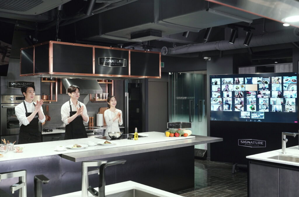 LG전자, '시그니처 키친 스위트(SIGNATURE KITCHEN SUITE)' 논현 쇼룸서 랜선 요리 강의 진행