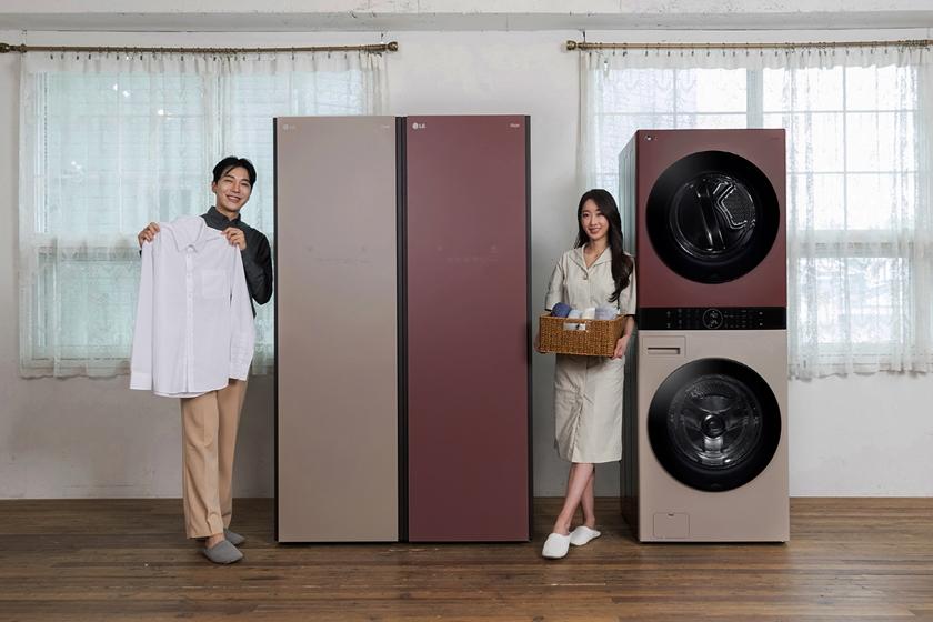 LG전자가 '클레이 브라운', '레드 우드' 등 새로운 색상을 적용한 오브제컬렉션을 이번 주 출시한다. 신규 색상은 의류관리기의 대명사 스타일러, 원바디 세탁건조기 워시타워에 먼저 적용되며 다양한 LG 오브제컬렉션 제품군에 순차적으로 확대 적용된다.