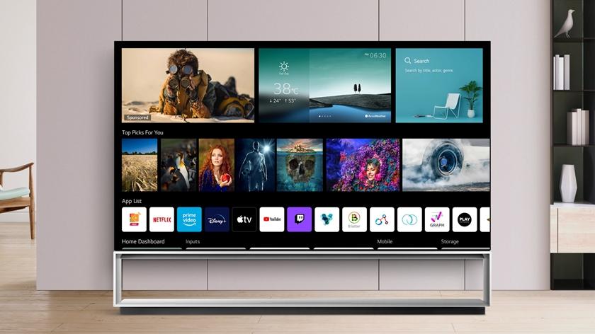 LG전자가 2018년부터 작넌까지 출시한 webOS TV에 대규모 소프트웨어 업그레이드를 진행한다. 고객들은 업그레이드를 통해 기존 모델에서도 최신 webOS 브라우저의 신기능을 이용할 수 있다. 사진은 최신 webOS 브라우저가 탑재된 LG 올레드 TV 이미지.