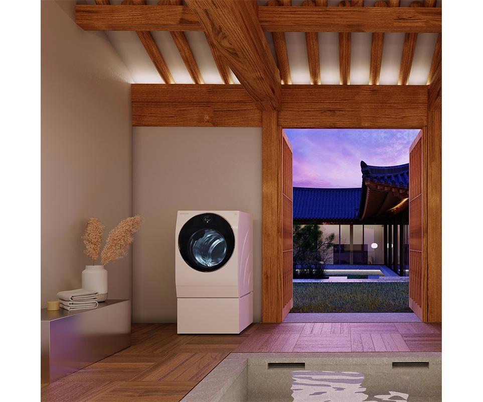 'Modern Hanok in Seoul(모던 한옥 인 서울)' 컨셉으로 꾸며진 한옥인테리어와 LG 시그니처 세탁기