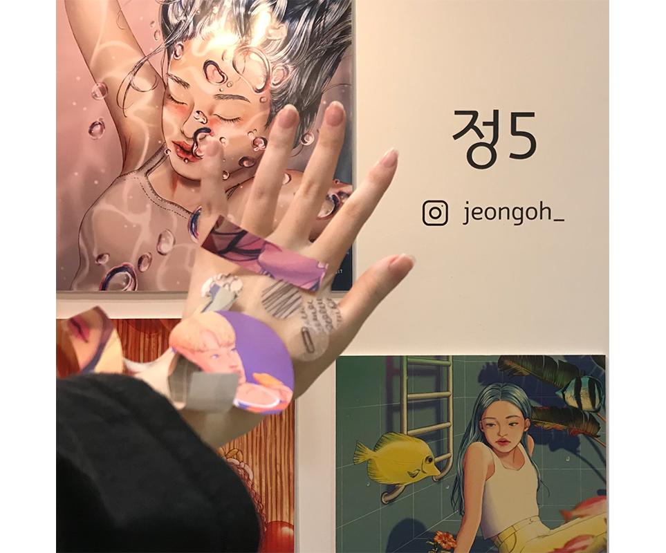 2019 서울일러스트레이션페어 Vol.8 '정5' 부스에서 촬영한 이미지