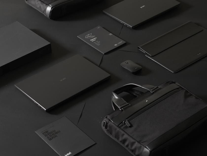 'LG 그램 블랙 라벨(Black label)' 풀패키지 제품사진