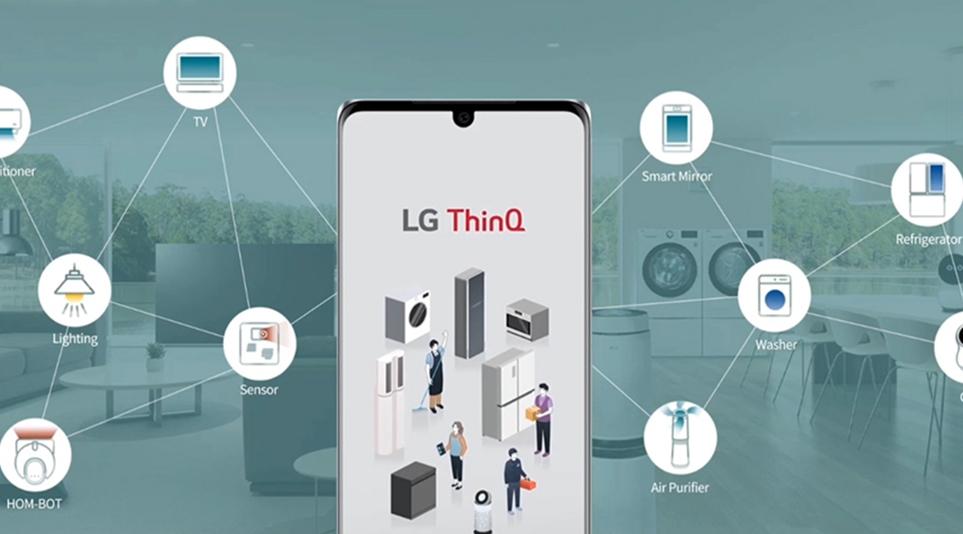 제품을 등록하여 가정 내의 LG전자제품을 원격설정 관리할 수 있는 LG ThinQ앱