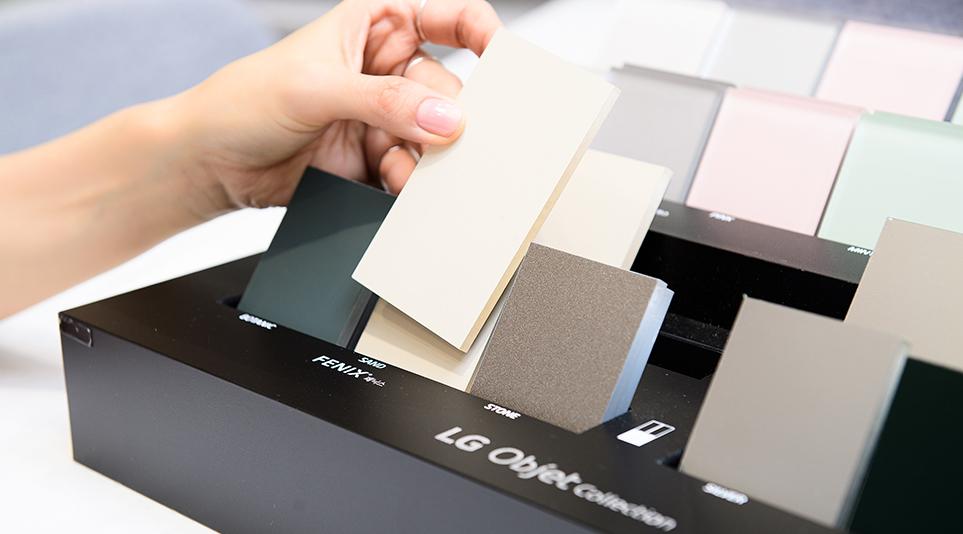 LG 오브제컬렉션 컬러솔루션을 한 번에 쉽게 볼 수 있는 CMF 샘플칩
