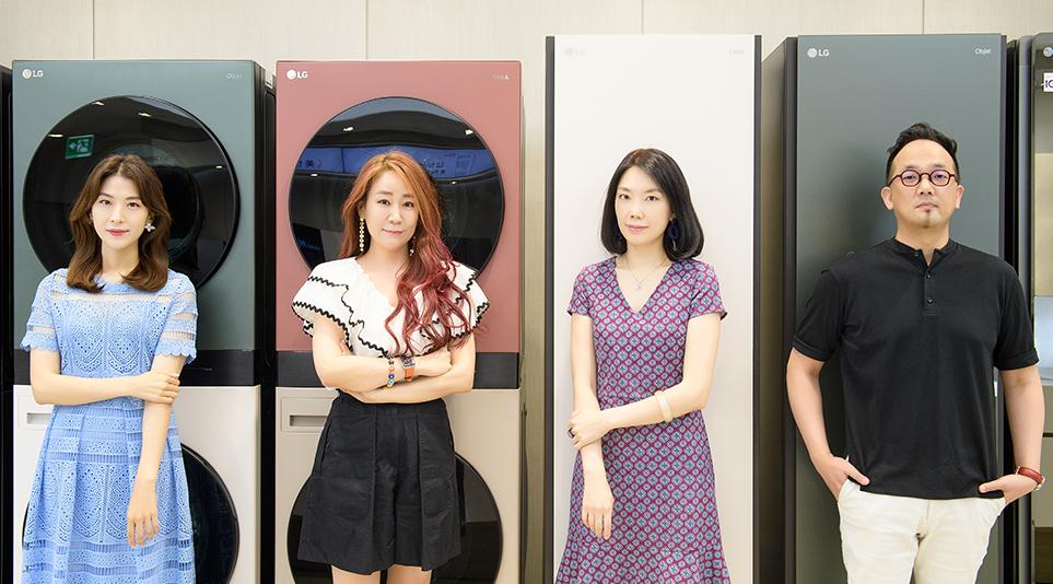 (왼쪽부터) CMF파트 차민주 선임연구원, 이승현 파트장, 표상아 책임연구원, 남기완 책임연구원
