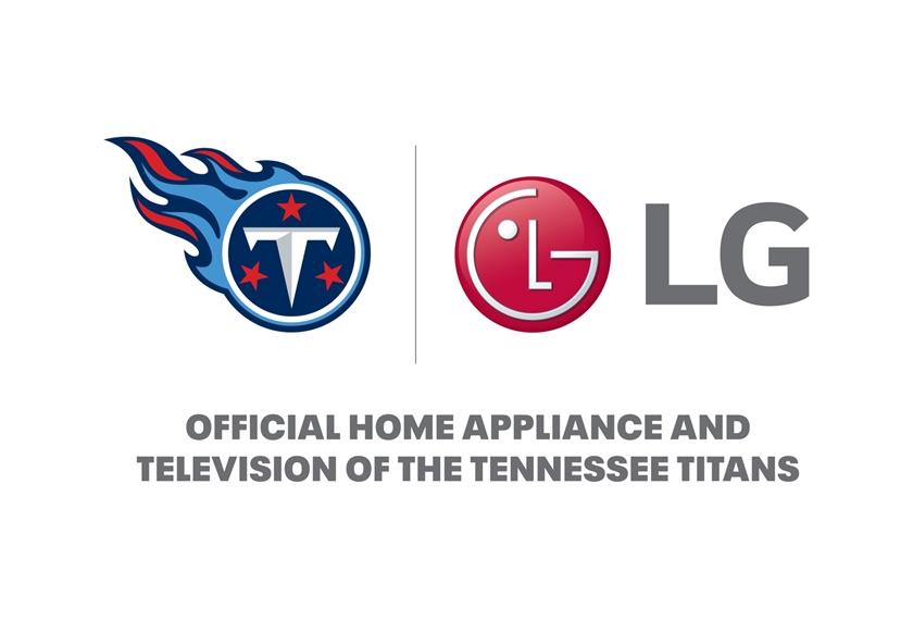 LG전자와 테네시 타이탄스의 공식 후원 로고.