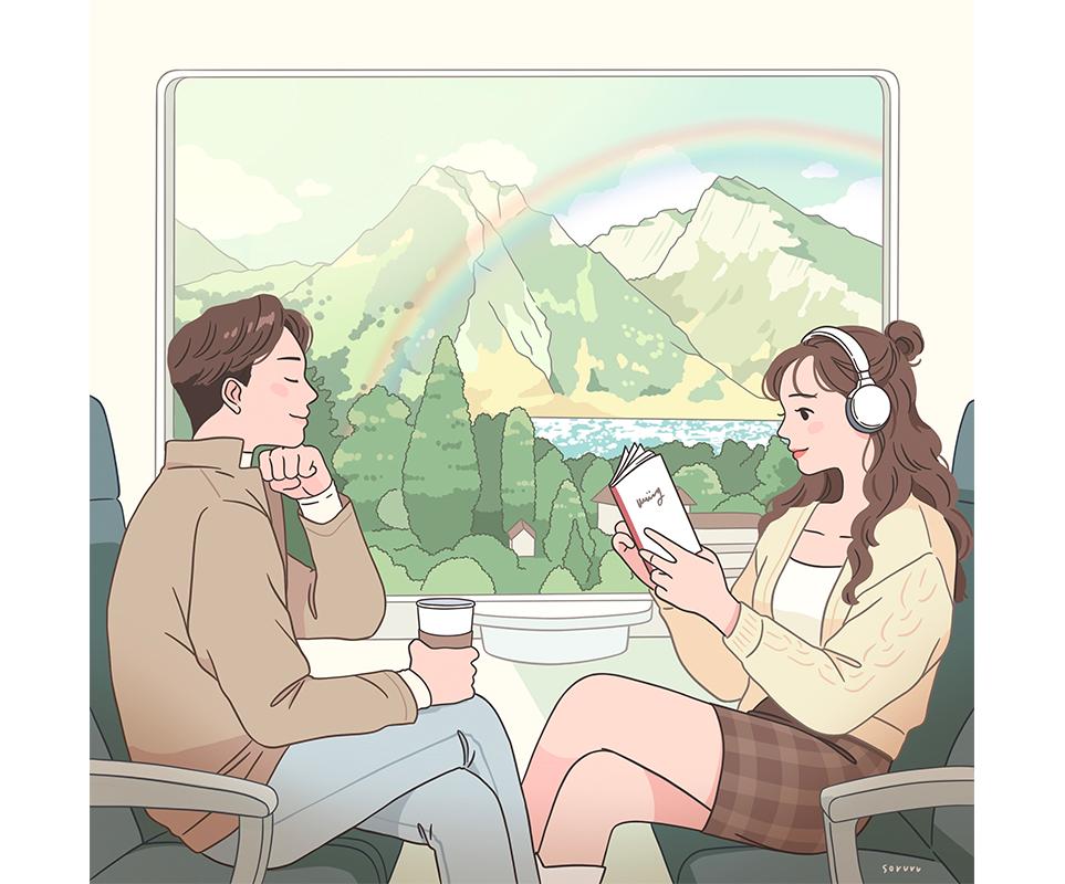 소르르 작가의 아트워크 'Train trip'
