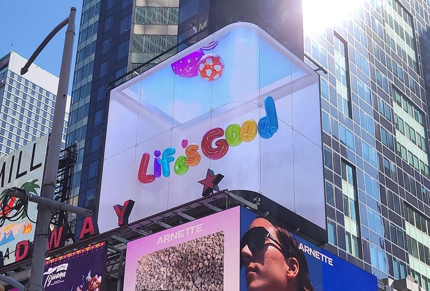 LG전자, 뉴욕 맨하튼서 'Life's Good' 3D 콘텐츠 상영