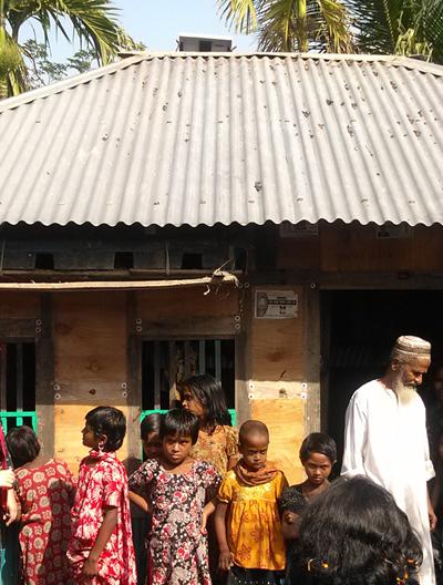 방글라데시 보리살 마을 사람들 사진