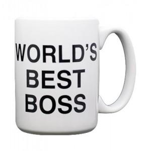 WORLD'S BEST BOSS 라고 적혀 있는 컵 사진