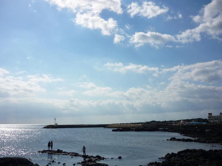바다가 보이는 전경